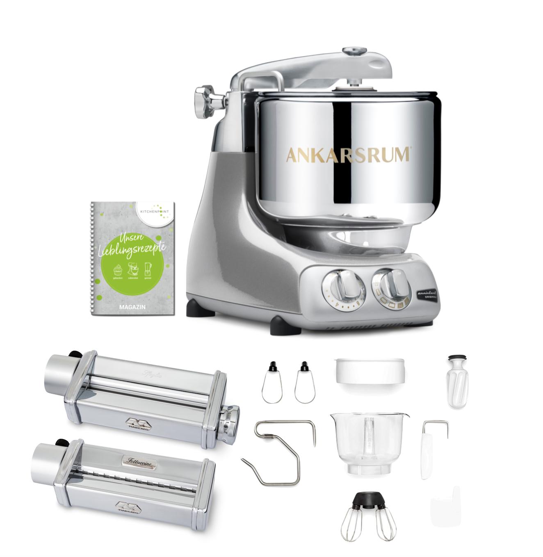 Ankarsrum Küchenmaschine Assistent Jubilee Silver - Pasta Set