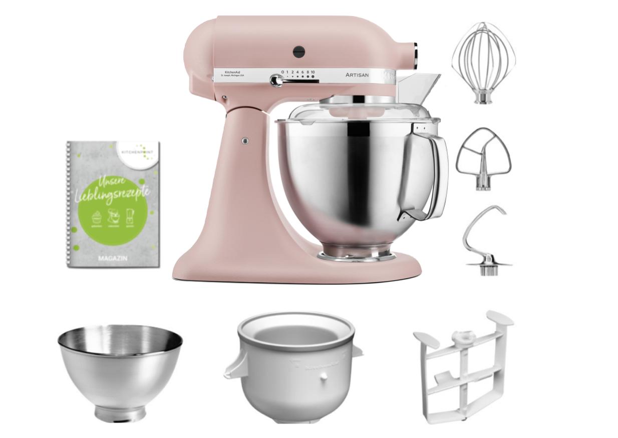 KitchenAid Küchenmaschine 185 Eis Set Feather Pink