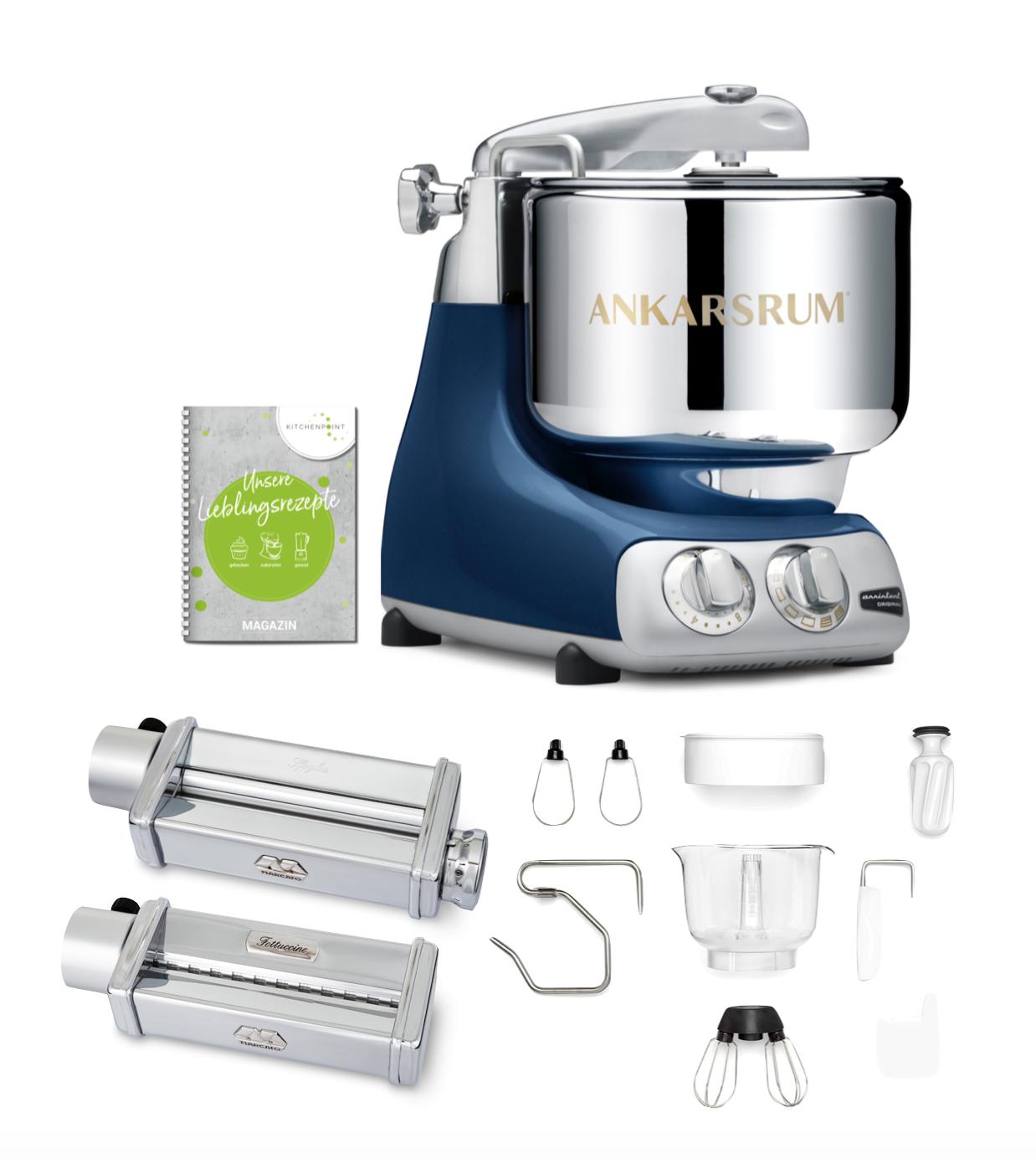 Ankarsrum Küchenmaschine Assistent Ocean Blue - Pasta Set