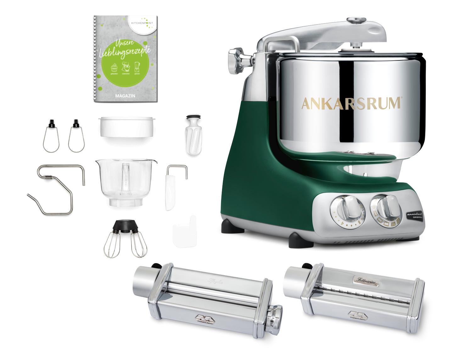 Ankarsrum Küchenmaschine Assistent Forest Green - Pasta Set