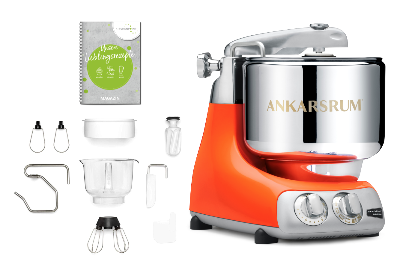 Ankarsrum Küchenmaschine Assistent Pure Orange