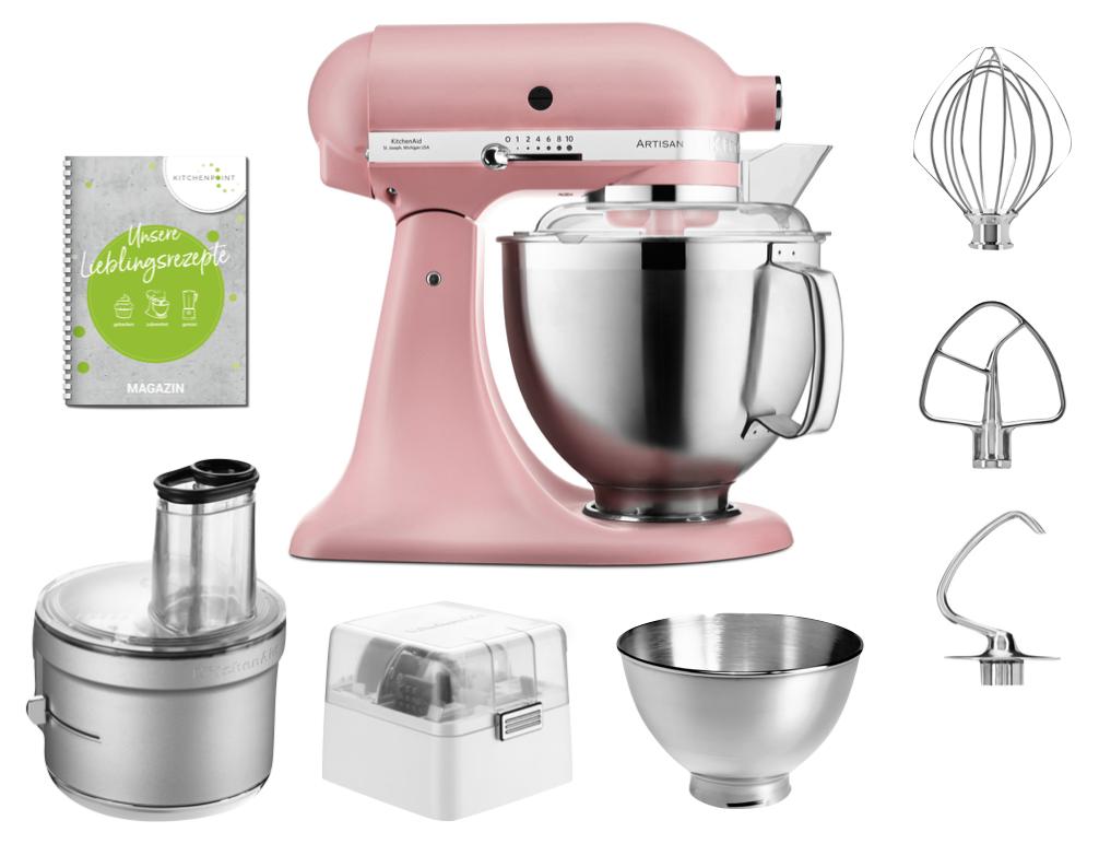 KitchenAid Küchenmaschine 175 - Foodprocessor Set Altrosa Pink
