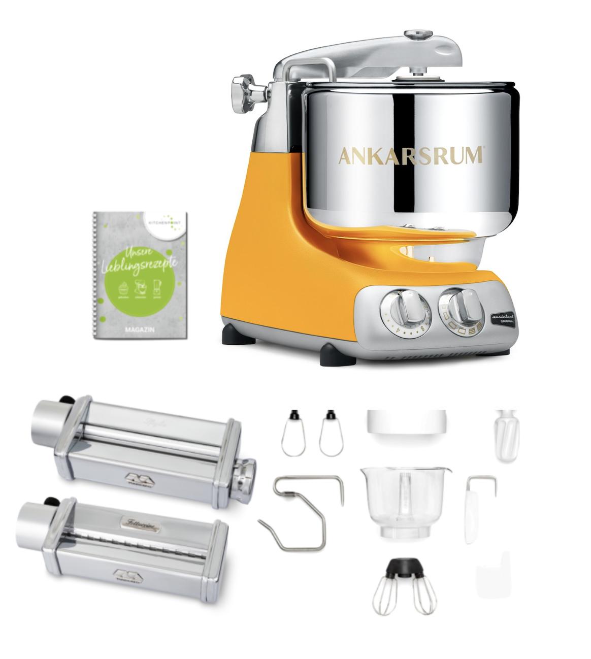 Ankarsrum Küchenmaschine Assistent Gelb Sunbeam Yellow - Pasta Set